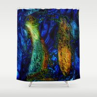 pi Shower Curtains featuring PI by RingWaveArt