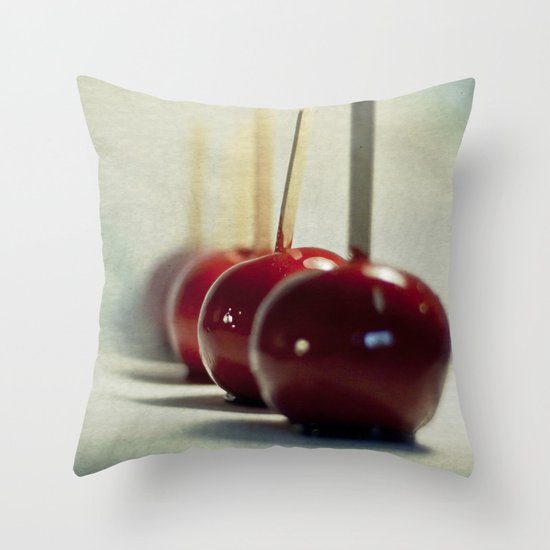 Candy Apples Throw Pillow