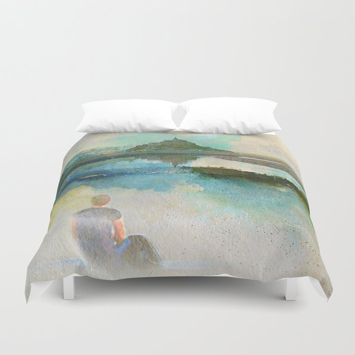Listen to the silence Duvet Cover