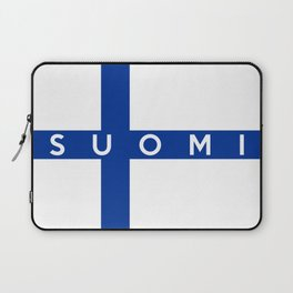 finland finnish country flag suomi name text Laptop Sleeve