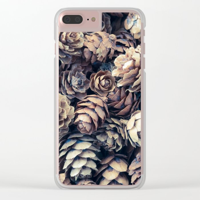 Tiny Pinecones Clear iPhone Case