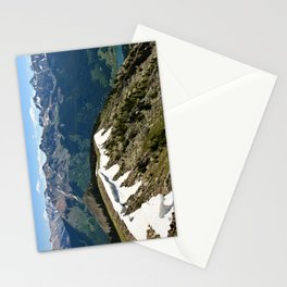 Mountain cornice with snow Stationery Cards