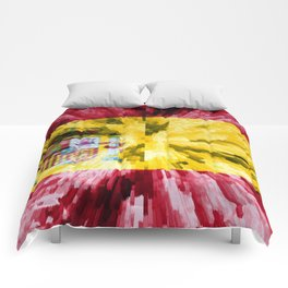 Extruded Flag of Spain Comforters