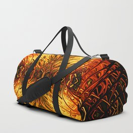 Pumpkin Pearl Sea Fan by Chris Sparks Duffle Bag