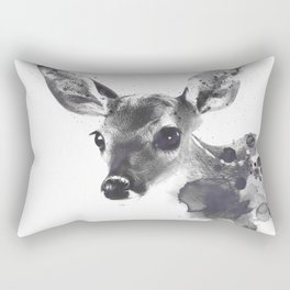 Watercolor Deer Rectangular Pillow