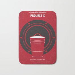 No393 My PROJECT X minimal movie poster Bath Mat