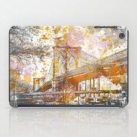 brooklyn bridge iPad Cases featuring Brooklyn Bridge by LebensART