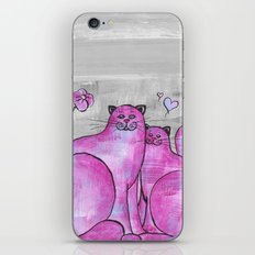 Pink Cats in love... iPhone & iPod Skin