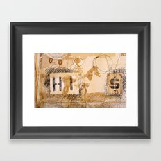 HI dollar Framed Art Print