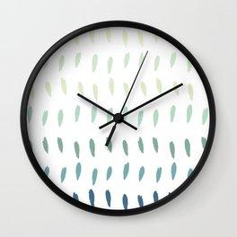 Abstract Green Pastel Raindrops Wall Clock
