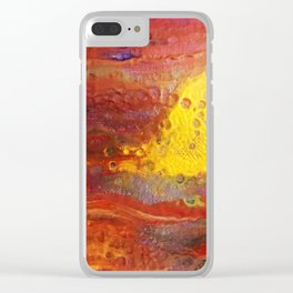 Gold Dragon Clear iPhone Case