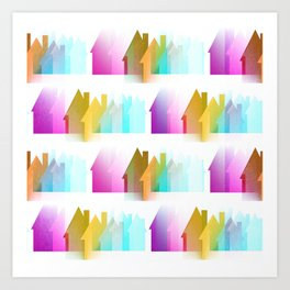 Rows Of Colored Houses Art Print
