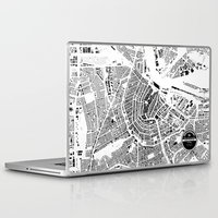 amsterdam Laptop & iPad Skins featuring AMSTERDAM by Maps Factory