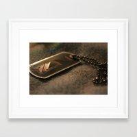 n7 Framed Art Prints featuring N7 by Yajaira Gomez