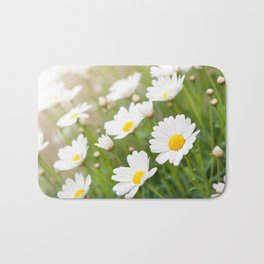 White chamomiles herb flowering plant Bath Mat