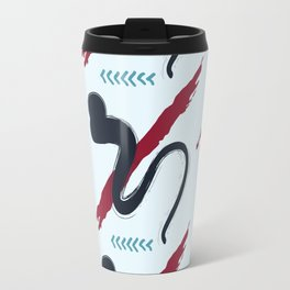 red blue abstract Travel Mug