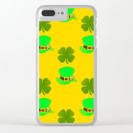 St Paddys Day Luck Clear iPhone Case