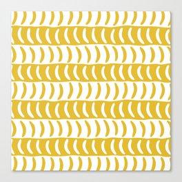 Wavy Stripes Mustard Yellow 2 Canvas Print