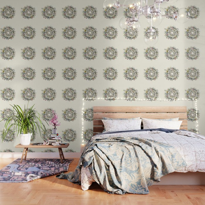 Circle of Life Cream Wallpaper