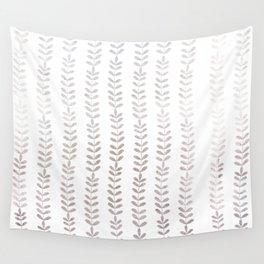 Silver leaf trellis Wall Tapestry