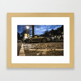 Porsche in Amsterdam Framed Art Print