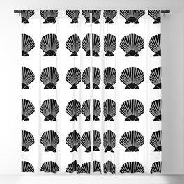 Black Seashell Blackout Curtain