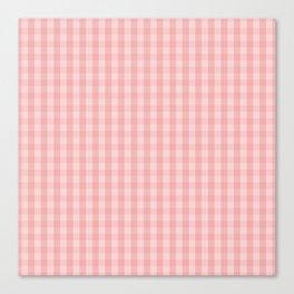 Large Lush Blush Pink Gingham Check Plaid Canvas Print