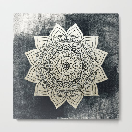 DEEP GOLD MANDALA Metal Print