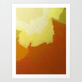 Eggs & Salsa Abstract Glass Art Print