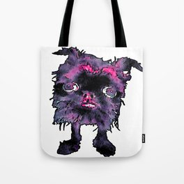 Lugga The Friendly Hairball Monster For Ghouls Tote Bag