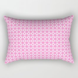 Delicate White and Pink Pattern Design Rectangular Pillow