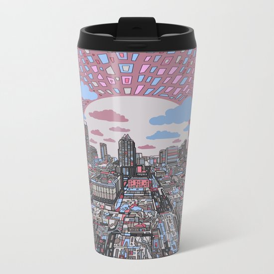 austin texas city skyline Metal Travel Mug