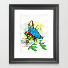 Bad Bad Birdy Framed Art Print