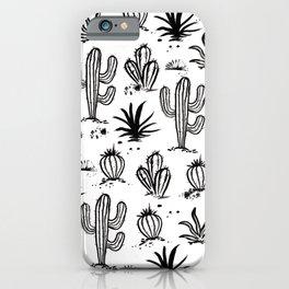 Cactus Sketch iPhone Case
