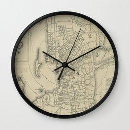 Vintage Map of Newport Rhode Island (1901) Wall Clock