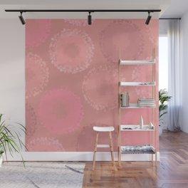 Glazed Doughnuts Pink Pixel Art Wall Mural