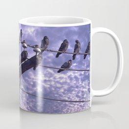 Pigeons on the Wires Coffee Mug