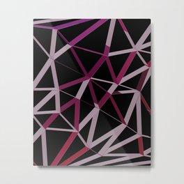 3D Futuristic GEO Lines IV Metal Print
