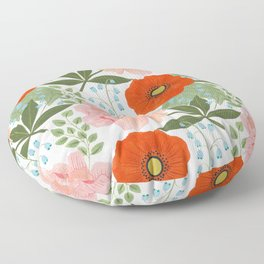 Pions and Poppies Floor Pillow