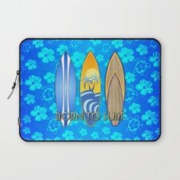Born To Surf Hawaiian Laptop Sleeve