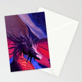 Jewel Toned Dragon of the Amethyst and Ruby Caverns Stationery Cards