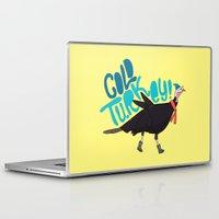 turkey Laptop & iPad Skins featuring Cold Turkey by Chelsea Herrick
