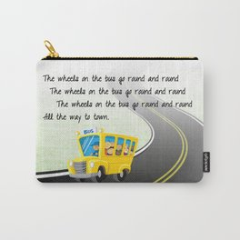 Wheels on the Bus Carry-All Pouch