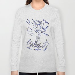 Shoal, Fish, Fishing, Beach, fishing design, sea world art, ocean sea fish Long Sleeve T-shirt