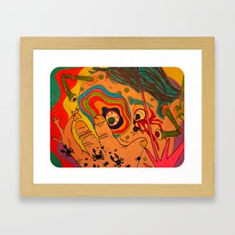 """A Bit Too Much"" Framed Art Print"