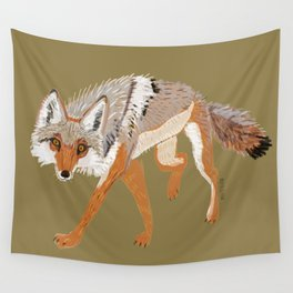 Totem Coyote Wall Tapestry