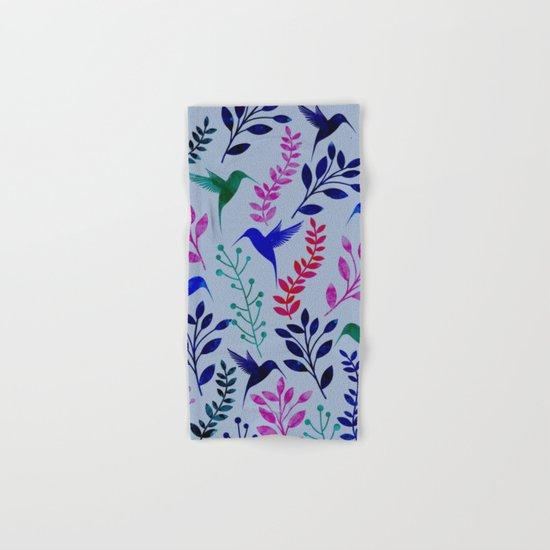 Watercolor Floral & Birds Hand & Bath Towel