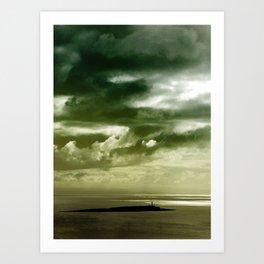 Storm over Pladda Art Print