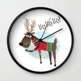 Christmas Reindeer Wall Clock