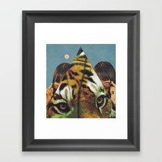 Tiger's EYE Framed Art Print